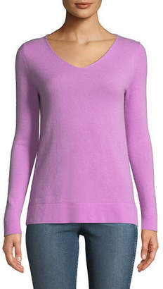 Neiman Marcus Cashmere Modern V-Neck Sweater