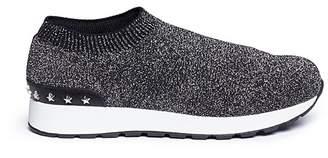 WiNK 'Liquorice' low top knit kids sneakers