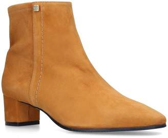 Stuart Weitzman Leather Solo Ankle Boots 45