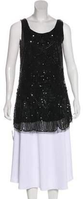 Anna Sui Sleeveless Embellished Tunic