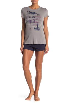 Co Retrospective Desert Dazed Pajama Shorts 2-Piece Set