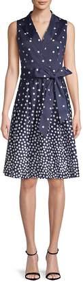 Anne Klein Women's Polka Dot Wrap Dress