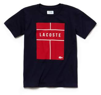 Lacoste Boys' SPORT Lettering Technical Jersey Tennis T-Shirt