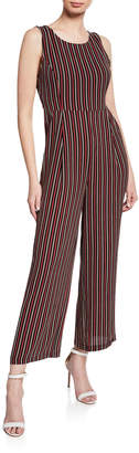 Free Generation Stripe Sleeveless Wide-Leg Jumpsuit