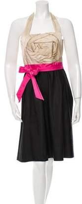 Valentino Multicolor Halter Dress w/ Tags