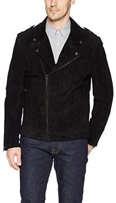 Blank NYC [BLANKNYC] Men's Pitch Suede Moto Outerwear