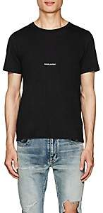 Saint Laurent Men's Logo Cotton T-Shirt - Black