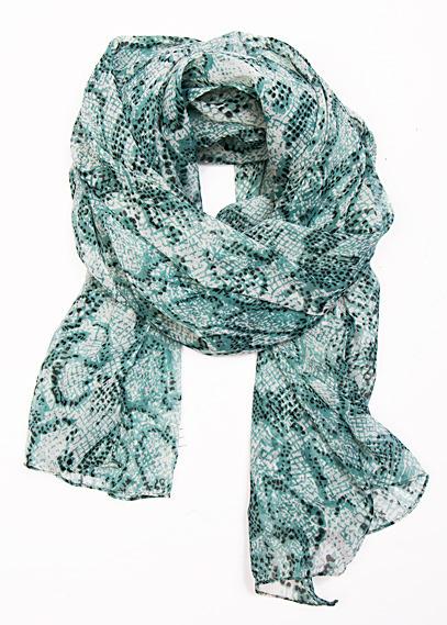 Snake print foulard