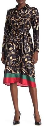 Alexia Admor Grace Printed Midi Shirt Dress