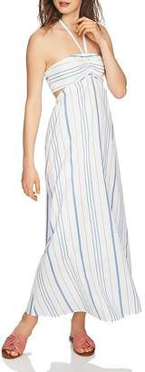 1 STATE 1.STATE Striped Halter Maxi Dress