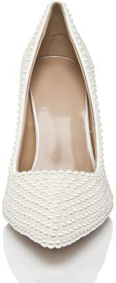 TDA Women's MA1178 Beaded Slip On Bridal Wedding Pumps Shoes