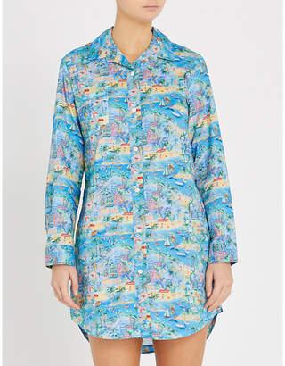 Derek Rose Ledbury cotton night shirt