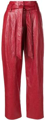 8pm Varnished Cropped Trousers