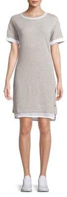 Andrew Marc Performance Short Sleeve Mesh Insert Dress