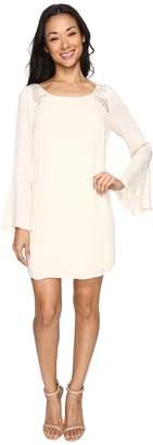 Brigitte Bailey Rowan Long Sleeve Dress with Lace Detail Women's Dress