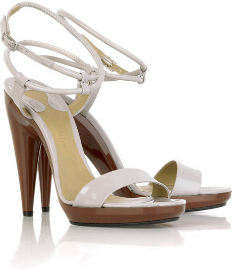 Chloé Two-tone platform sandals