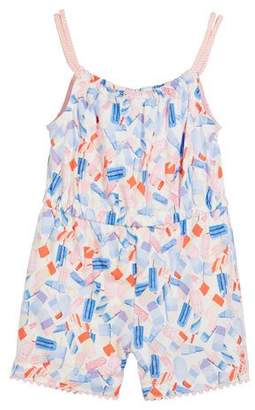 Joules Popsicle-Print Sleeveless Romper, Size 3-6