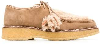 Tod's lace-up shearling loafers