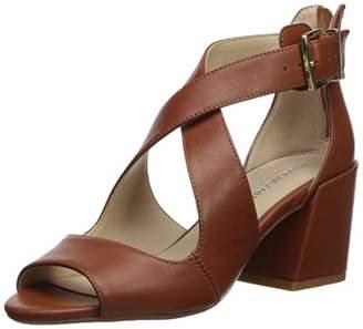 d2c86332c379 Kenneth Cole New York Women s Hannon Criss Cross Strap Heeled Sandal