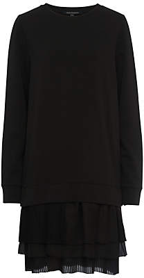 French Connection Tommy Pleated Dress, Black