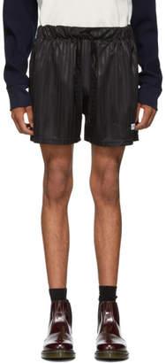 Daniel W. Fletcher SSENSE Exclusive Black Shadow Stripe Shorts