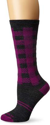 Wigwam Women's Buffalo Squared Plaid Pattern Heritage Casual Crew Socks