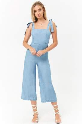 Forever 21 Chambray Palazzo Jumpsuit