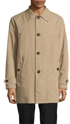 Cole Haan Spread Collar Buttoned Rain Jacket