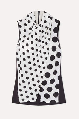 Mother of Pearl Net Sustain And Bbc Earth Nyler Polka-dot Silk-crepe Top - White