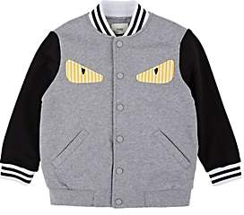 Fendi Kids' Bag Bugs Cotton Bomber Jacket - Gray