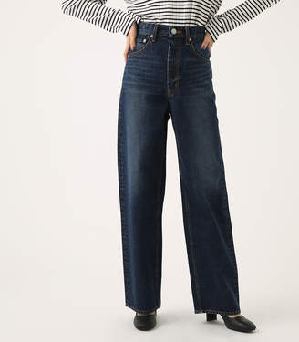 High Waist Denim Wide