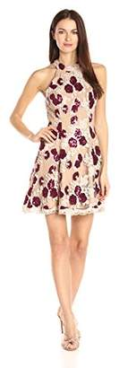 Dress the Population Women's Jennie Floral Sequin Dress
