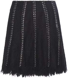 Alexander Wang Embellished cotton-blend skirt