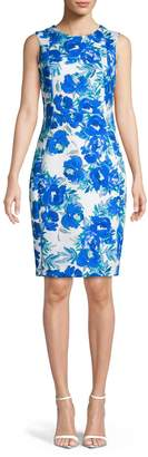 Calvin Klein Floral Sleeveless Sheath Dress