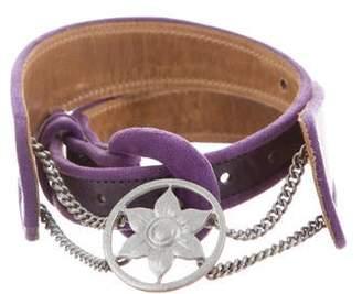 Mayle Leather Embellished Belt