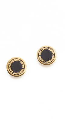 Marc Jacobs Enamel Logo Disc Stud Earrings $48 thestylecure.com