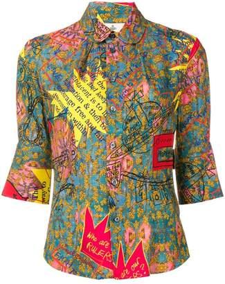 Vivienne Westwood phrase print shirt