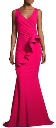 La Petite Robe di Chiara Boni Keke Sleeveless Ruffle Mermaid Gown $1,090 thestylecure.com