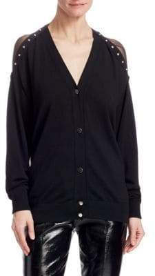 Alexander Wang Suspended Snap-Trim Cardigan