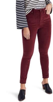 Madewell 10-Inch High Waist Velveteen Skinny Jeans
