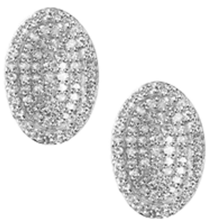 Links Of London Sterling Silver and Diamond Concave Earrings