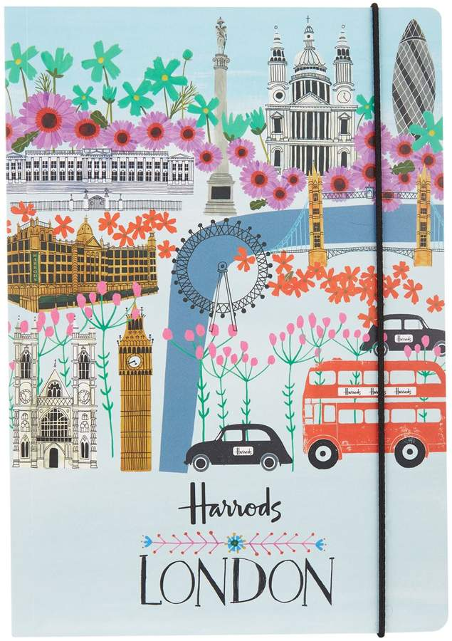 London Collage A5 Notebook, White