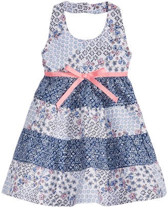 Blueberi Boulevard Baby Girls Tiered Ruffle Cotton Dress