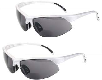 44285f9fd7 Mass Vision 2 Pair of Polarized Bifocal Sport Wrap Sunglasses - Outdoor Reading  Sunglasses (