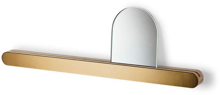 Skagerak - Reflect Wandablage mit Spiegel, eiche / Messing