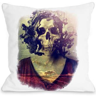 One Bella Casa Miss Skull Decorative Pillow