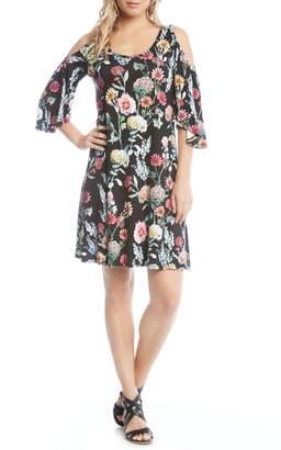 Karen Kane Cold Shoulder A-Line Dress