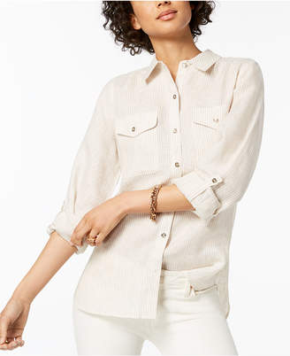 Tommy Hilfiger Linen Utility Shirt, Created for Macy's
