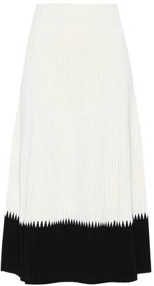 Alexander McQueen Ribbed knit midi skirt