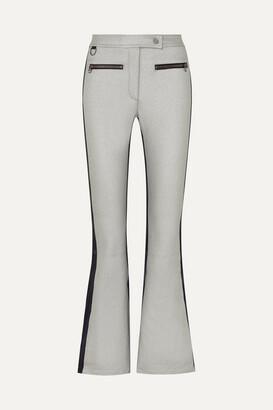 Erin Snow Phia Paneled Flared Ski Pants - Silver